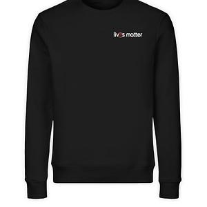 Lives Matter Logo in weiß - Unisex Organic Sweatshirt-16
