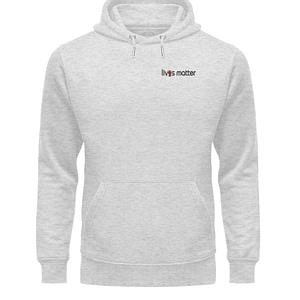 Lives Matter Logo in Schwarz - Unisex Organic Hoodie-6892