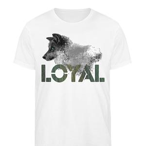 Loyal Wolf - Herren Organic Shirt-3