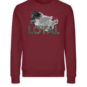 Loyal Wolf - Wood - Unisex Organic Sweatshirt-6883