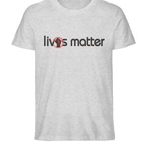 Lives Matter - Schriftzug in schwarz - Herren Organic Melange Shirt-6892