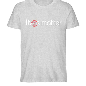 Lives Matter - Schriftzug in weiß - Herren Organic Melange Shirt-6892