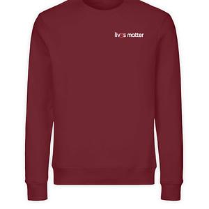 Lives Matter Logo in weiß - Unisex Organic Sweatshirt-6883