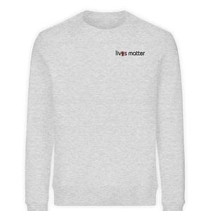 Lives Matter Logo in Schwarz - Unisex Organic Sweatshirt-6892