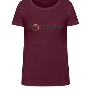 Lives Matter - Schriftzug in schwarz - Damen Organic Shirt-839