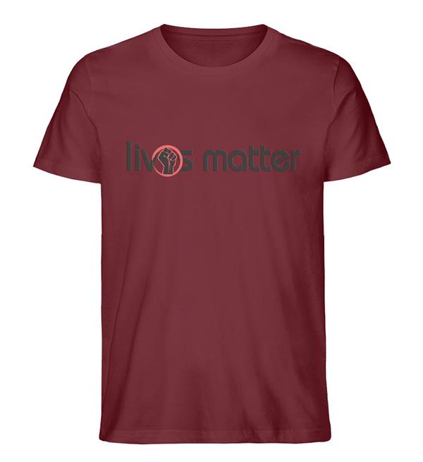 Lives Matter - Schriftzug in schwarz - Herren Premium Organic Shirt-6883