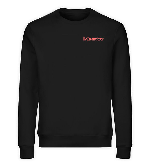 Lives Matter Logo - Unisex Organic Sweatshirt-16