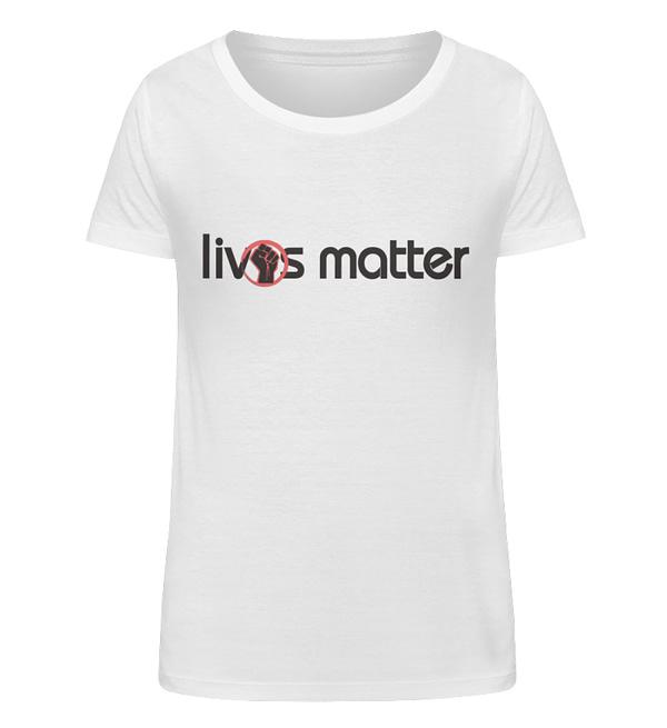 Lives Matter - Schriftzug in schwarz - Damen Organic Shirt-3