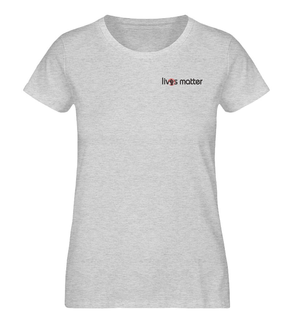 Lives Matter Logo in Schwarz - Damen Organic Melange Shirt-6892