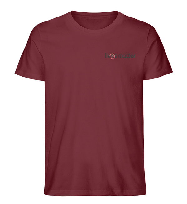 Lives Matter Logo in Schwarz - Herren Premium Organic Shirt-6883