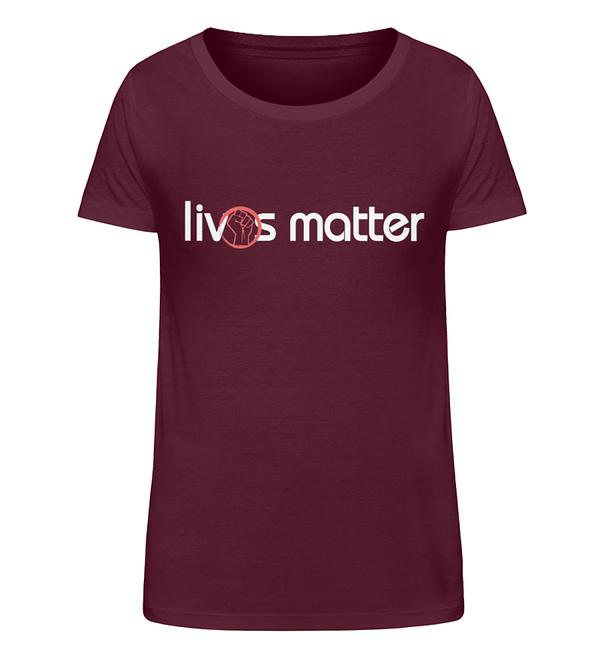 Lives Matter - Schriftzug in weiß - Damen Organic Shirt-839