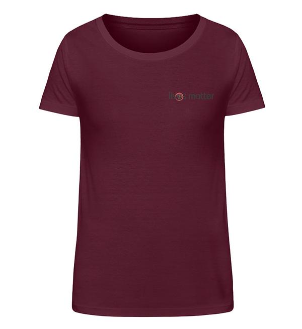 Lives Matter Logo in Schwarz - Damen Organic Shirt-839