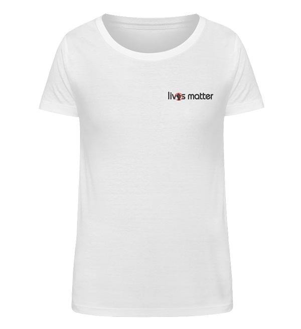 Lives Matter Logo in Schwarz - Damen Organic Shirt-3